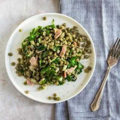 Green Lentil & Bacon Salad