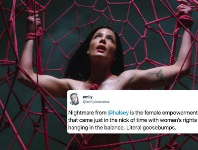 """These Tweets About Halsey's """"Nightmare"""" Music Video Will Make You Feel Empowered AF"""