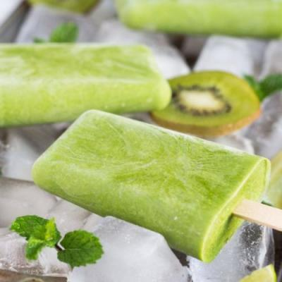 Healthy Green Smoothie Popsicles