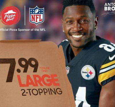 Pizza Hut is trying to cash in on NFL fans by taking the opposite approach of Papa John's and Nike