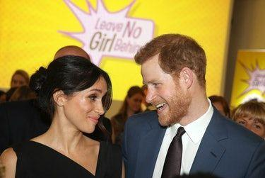 Prince Harry & Meghan Markle's Body Language At The Women's Empowerment Reception Reveals They're Closer Than Ever