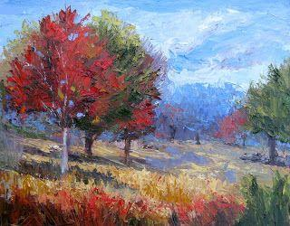 Pecan Valley View, Contemporary Landscape Painting by Sheri Jones