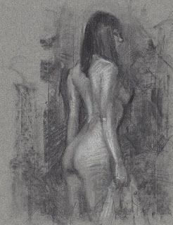 Asian female nude study