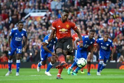 Watch: Paul Pogba nets first goal of Premier League season, Manchester United beats Leicester City