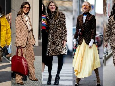 Leopard Print and Gucci Logos Took Over Street Style on Day 1 of Milan Fashion Week