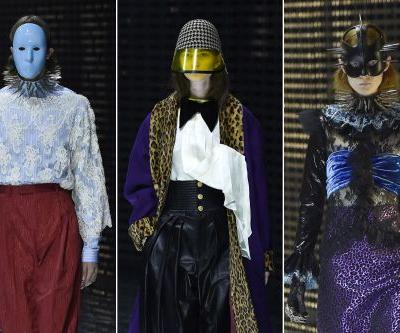 Gucci's creepy couture masks haunt the runway in Milan