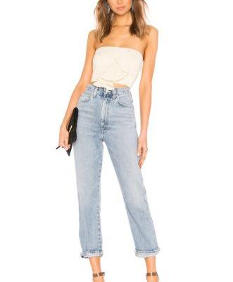 Pinch-Waist Jeans Are One of the Most Flattering Denim Styles on Offer