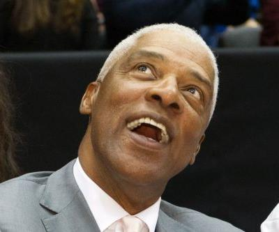 Julius Erving falls ill at 76ers game and is taken to hospital