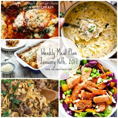 Weekly Meal Plan | January 16th, 2017