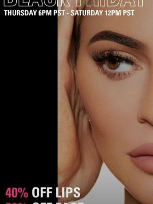 Kylie Cosmetics' 2018 Black Friday Sale Will Get You 40 Percent Off Lip Kits