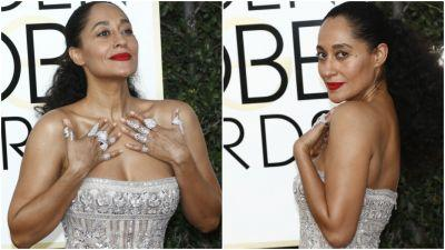 Here's Every Single Thing Tracee Elliss Ross Used To Get Her Golden Globes Glow Last Night