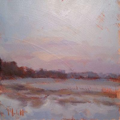 Dawn's Early Light Winter Landscape Original Oil Painting and Prints