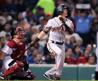 Mike Yastrzemski homers in first game at Fenway Park