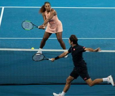 Watch: Roger Federer beats Serena Williams in doubles match