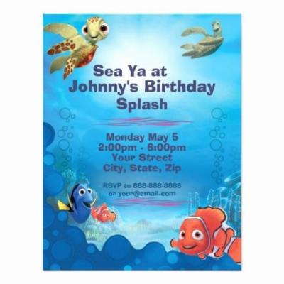 30 Fresh Finding Nemo Invitations Template Pics