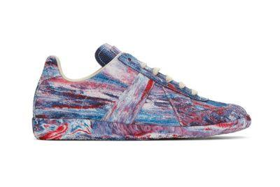 Maison Margiela Applies a Multi-Colored Tie-Dye Treatment to Its Replica Military Trainer
