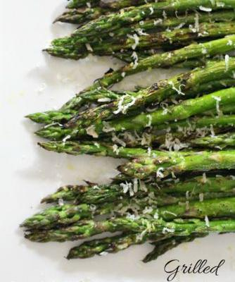 Grilled Lemon-Garlic Asparagus with Parmesan