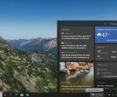 Windows 10 21H1 gains new 'news and interests' widget on the Taskbar