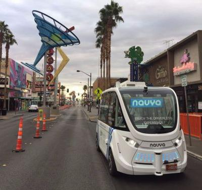 Starting today, you can now take a driverless bus down the Las Vegas strip