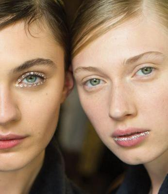 Makeup Artist Add Sparkle and Glitter to the Spring/Summer 2018 Catwalks