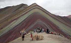 Winikunka Rainbow Mountain is Peru's second-most popular destination