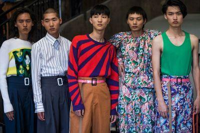 Up Close and Personal With Kenzo's 2018 Spring Summer Collection Just Prior to Showtime