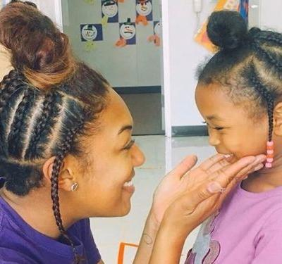 A teacher copied her 4-year-old student's hairstyle to boost her confidence - and people are loving it