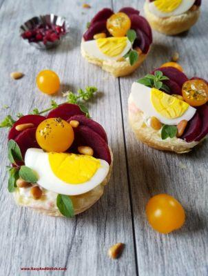 Pickled Beet and Goat Cheese Tarts