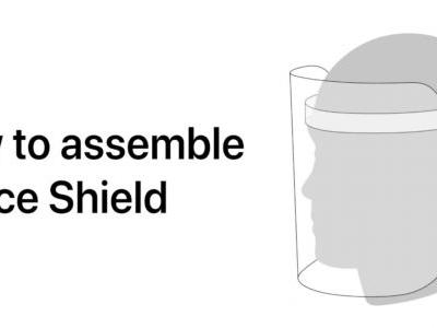 Apple publishes new details for its Face Shield designed to help health workers avoid coronavirus