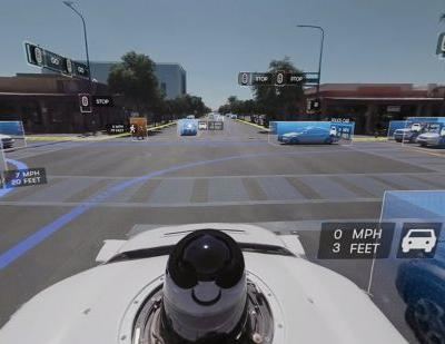 This 360-degree video shows how a Waymo self-driving car 'sees' the road