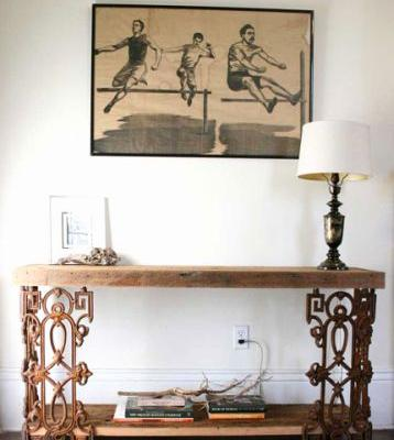 48 Elegant Iron and Wood Console Table Images