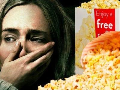 A Quiet Place Has Audiences Too Scared to Eat Their Popcorn