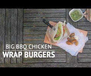 How to Make Big BBQ Chicken Wrap Burgers