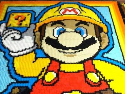This Super Mario Maker Homage Was Created With Over 127,000 Dominoes