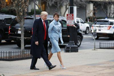 Ralph Lauren, the most bipartisan of designers, dresses first lady Melania Trump for inauguration
