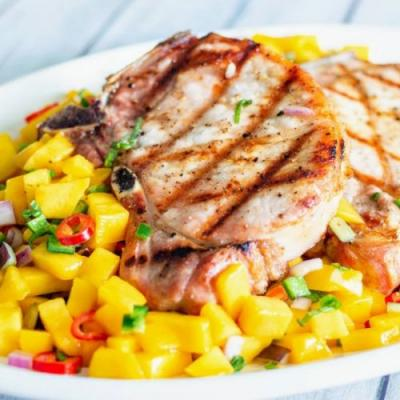 Grilled Pork Chops with Mango Salsa