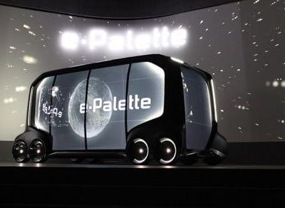 Boxy Toyota e-Palette concept is designed to transport both people and pizzas