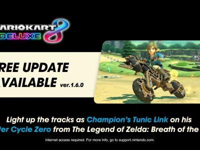 Mario Kart 8 Deluxe Adds Breath Of The Wild Crossover Content