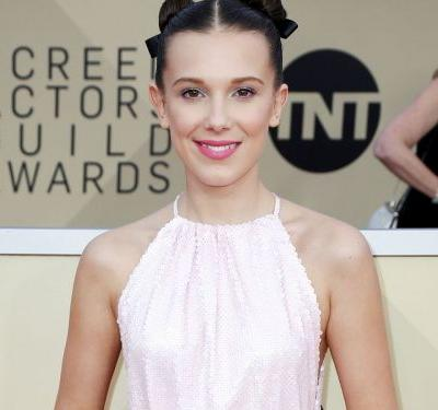Millie Bobby Brown Is Wearing Coachella's Biggest Hair Trend At The SAG Awards