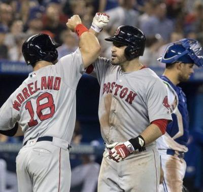 Moreland homers in 10th to lift Red Sox over Blue Jays 10-7