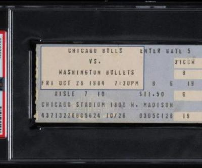 Ticket for Michael Jordan's NBA debut sells for nearly $25,000