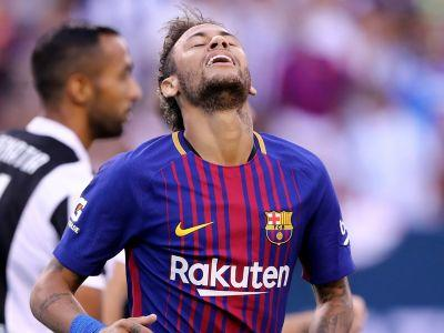 Angry Neymar clashes with Barca team-mate in training as PSG talk intensifies