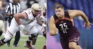 Falcons select 2 offensive linemen on first day of NFL draft
