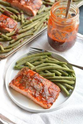 Low Sugar BBQ Salmon {GF, Low Cal}
