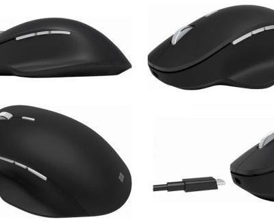 Microsoft Precision Mouse in black is quite striking