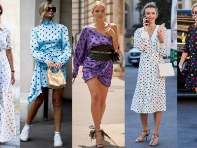 The Street Style Crowd Wore Plenty of Polka Dots at Paris Couture Week