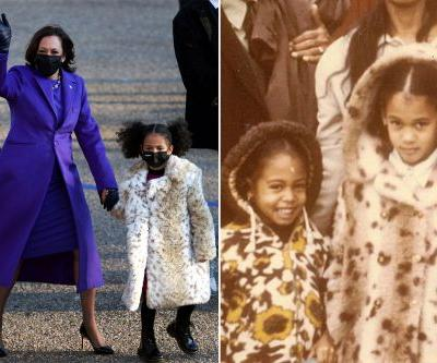 Leopard coats worn by Kamala Harris' great-nieces named after VP