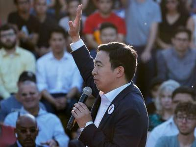 Andrew Yang announces a raffle to give 10 families a $12,000 annual universal basic income at the Democratic debate