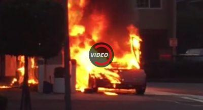 Lamborghini Countach Destroyed By Inferno In San Francisco
