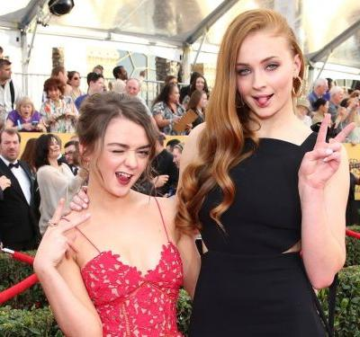Sophie Turner and Maisie Williams wore matching outfits to their 'Game of Thrones' co-stars' wedding